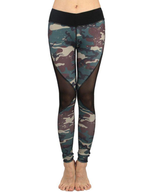 Legging imprimé camouflage pour femme