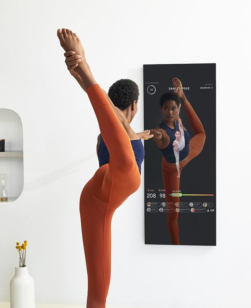 Miroir de Fitness et Musculation pour faire du sport a la maison