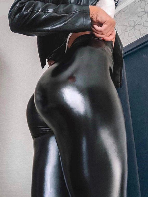 Legging vinyle noir
