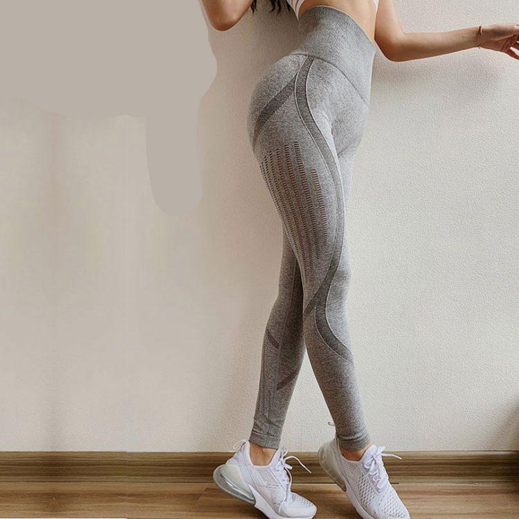 Legging fitness taille haute sans couture