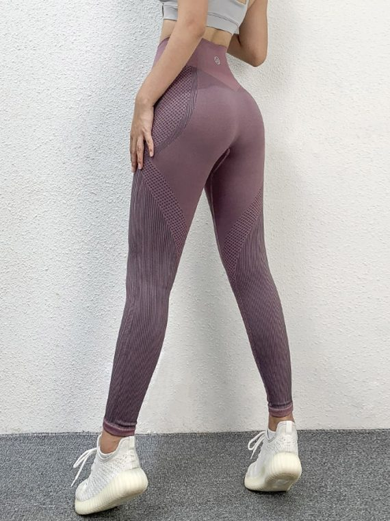 legging yoga sans couture taille haute