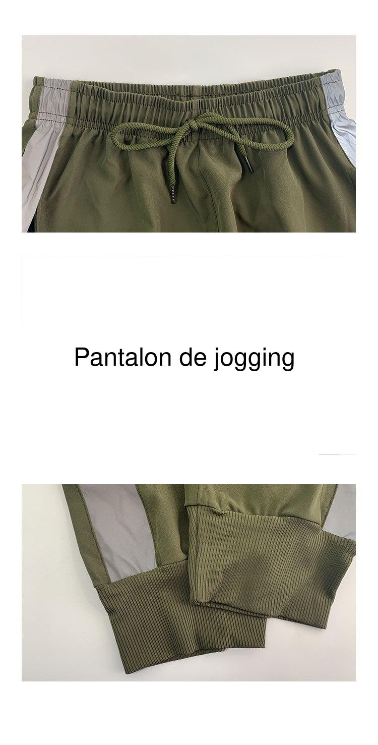 Pantalon de yoga avec bande réfléchissante