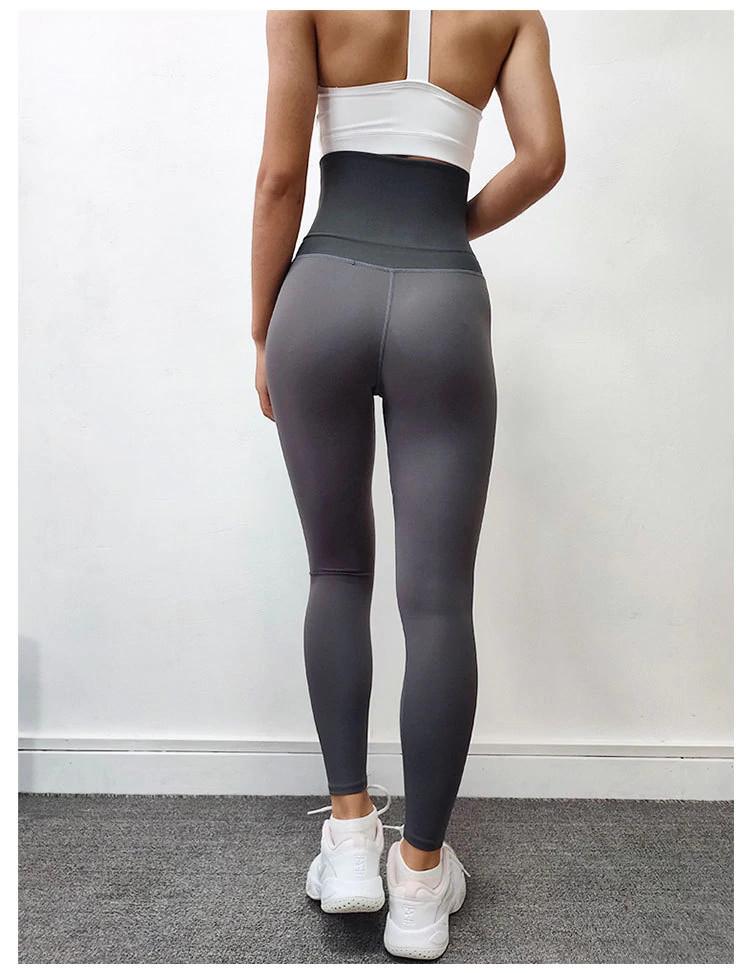 legging de compression femme gris