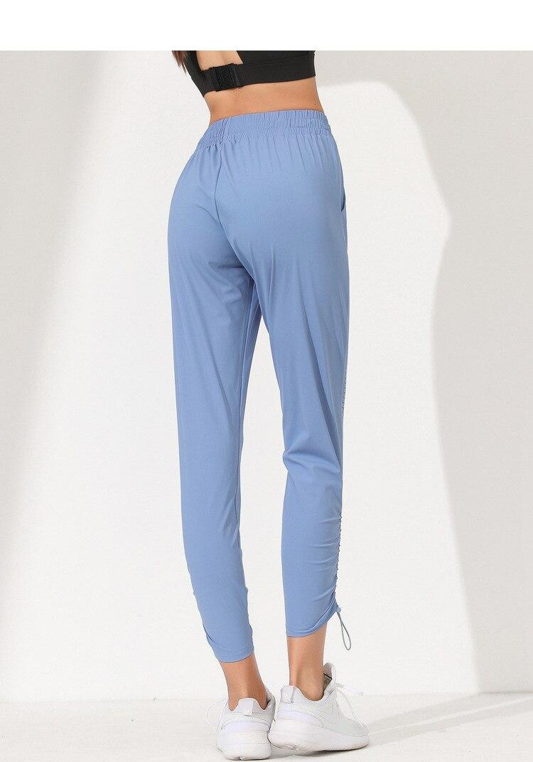 pantalon yoga bleu femme