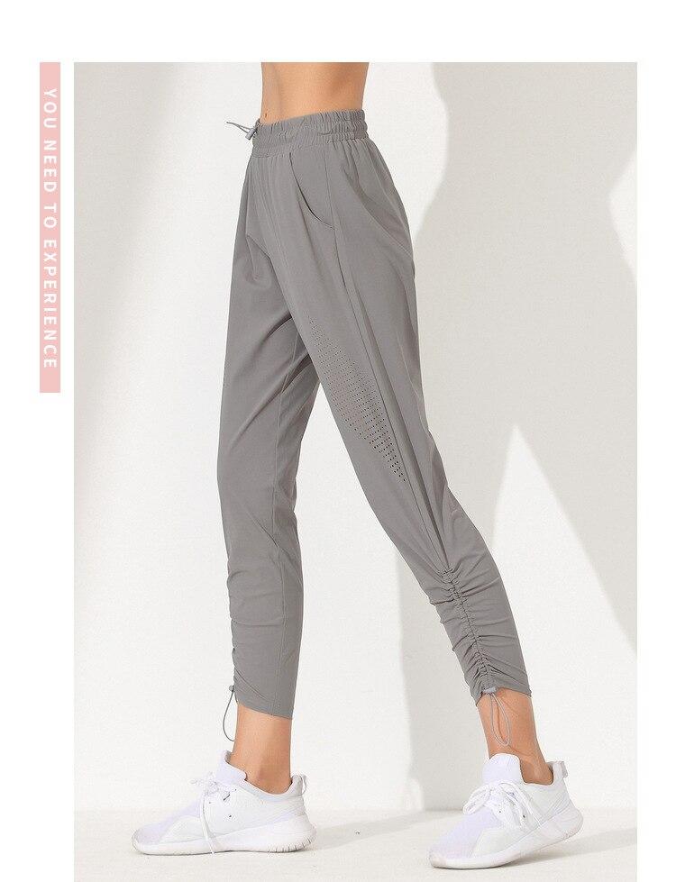 pantalon yoga gris femme