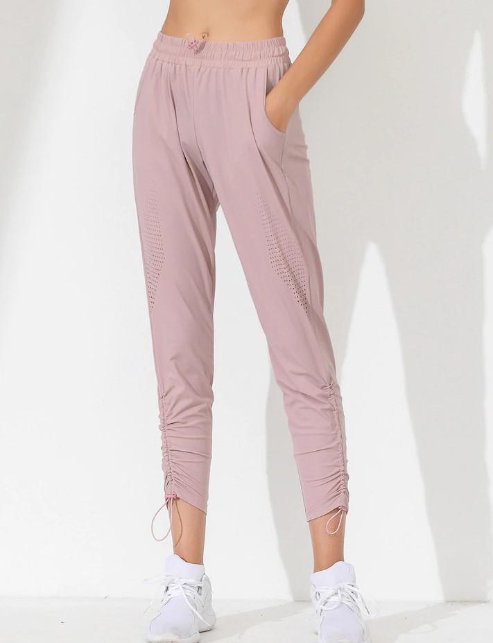 pantalon yoga rose femme