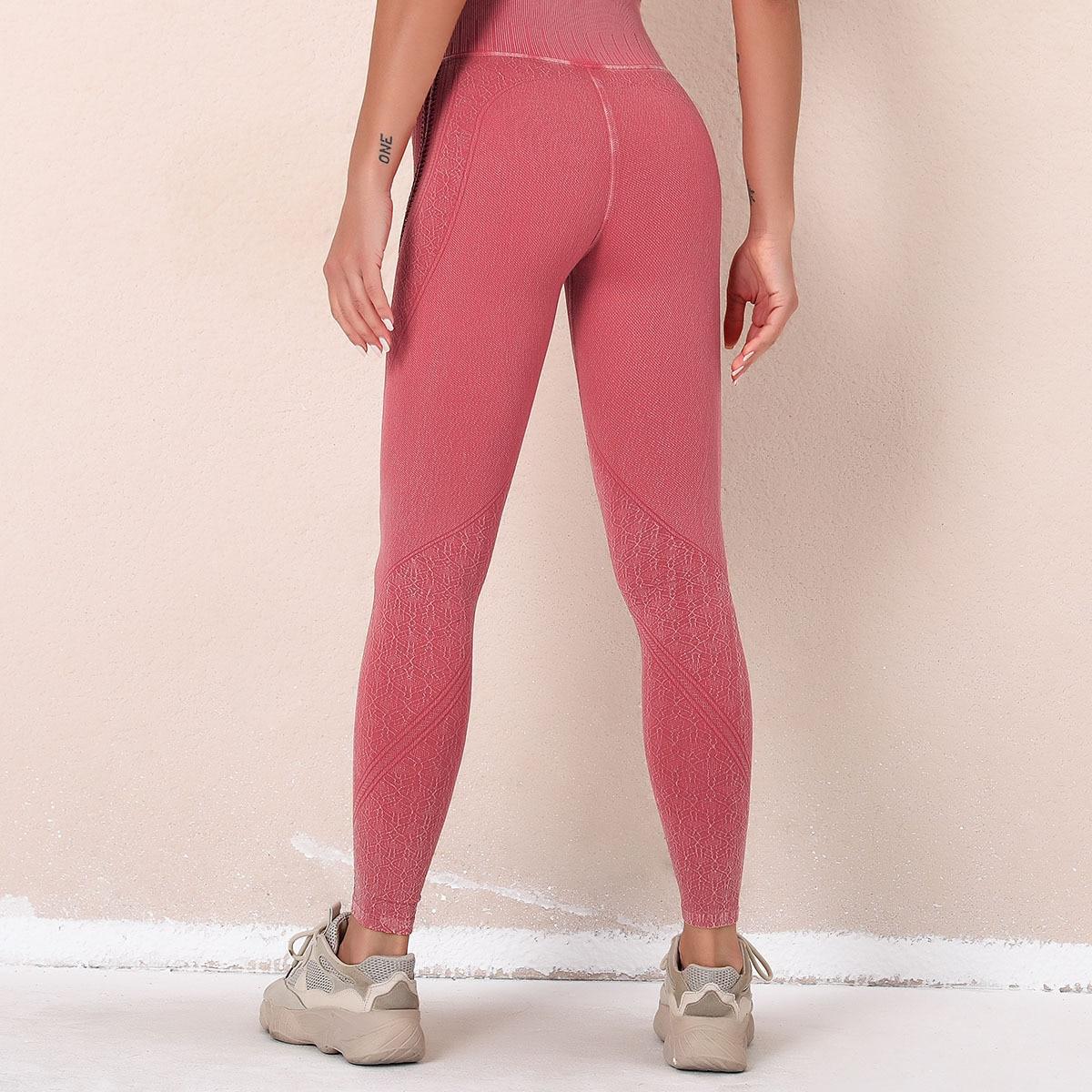legging effet jean rose