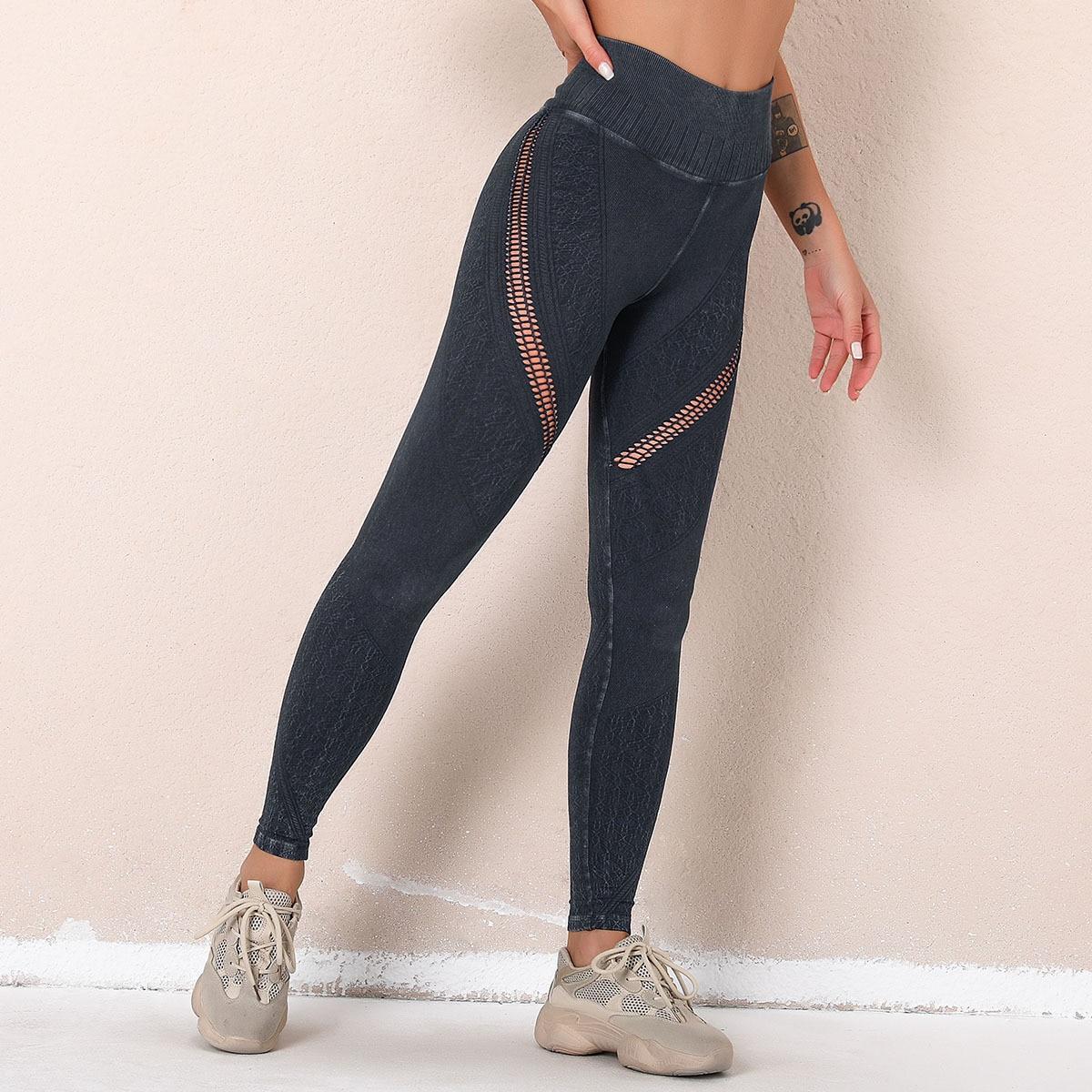 legging imitation jean noir
